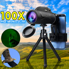 BAK4 80X100 Zoom Portable Prism HD Optical Monocular Telescope+Phone