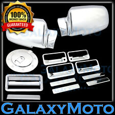 88-98 GMC C1500+C2500+C3500 Chrome Mirror+4 Door Handle+Tailgate+GAS Tank Cover