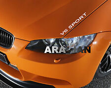 V6 SPORT Vinyl Decal sticker racing speed car emblem logo hood sticker WHITE
