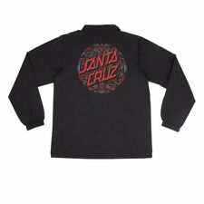 Santa Cruz Pinstripe Dot Coach Windbreaker Jacket Black Xxl