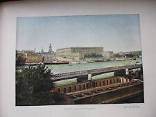SUEDE/NORVEGE:Gravure 19°in folio couleur/ STOCKOLM: le palais royal