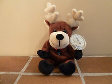 Coca-Cola 1998 Beanie Plush BALTIC THE REINDEER-SWEDEN Soft Toy-Rare Vintage