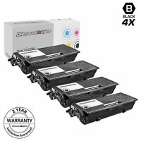 4PK TN-580 Toner Cartridge for Brother TN580 BLACK MFC-8870WN MFC-8460N MFC-8660