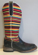 ARIAT Gringa Multicolor/Black Leather Square Toe Western Boots Women's 7B