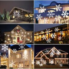 LED Laser Licht Projektor Weihnachtsbeleuchtung Lichteffekt snow schneeflocker X