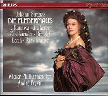 J. Strauss: Die Fledermaus / Previn, Te Kanawa, Gruberova, Fassbaender - CD