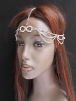 New Women Head Metal Chain Fashion Silver Jewelry Grecian Circlet + Rhinestones