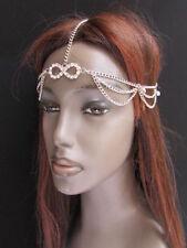 New Women Head Metal Chain Fashion Silver Jewelry Grecian Circlet + Rhinestones