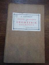 traté de pratique de géométrie descriptive par J. Geoffroy - armand colin n°8 -