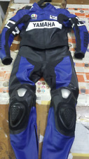 BLUE YAMAHA   MOTORBIKE RACING LEATHER SUIT CE APPROVED
