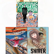 Junji Ito 3 Books Collection Set Shiver,Fragments of Horror,Dissolving Classroom