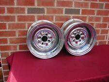 71 72 73 74 75 76 77 CHERVOLET VEGA VINTAGE  NOS APPLIANCE CHROME WHEELS 13X7