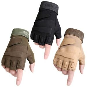 Tactical Military Army Paintball Airsoft Outdoor Sport Half Finger Men Gloves