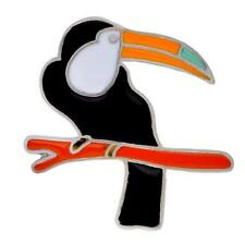 ENAMELLED TIE TACK OR LAPEL PIN - TOUCAN - FREE UK P&P.............CG1471