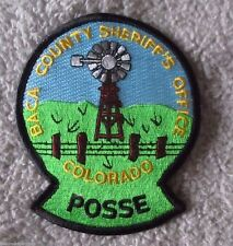 "Baca County Sheriff's Office Posse Patch - Colorado - 3 1/2"" x 4 1/4"""
