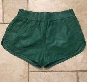 Miss Copenhagen Leather Retro Gym Style Shorts Size M *New