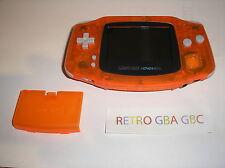 console game boy advance orange translucide