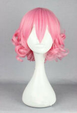 Lolita Pink Wig Short Curly Bangs Heat Resistant Fashion Cute Girl Cosplay H43#