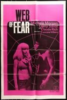 WEB OF FEAR Michelle Morgan Grindhouse ORIGINAL 1966 1 SHEET MOVIE POSTER 1A