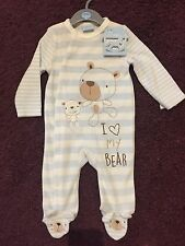 Combinaison Overall ours teddy application taille 62/3-6 mois