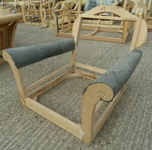 Retro ARMCHAIR Chair 1960s Lounge Hardwood Large Frame Upholstery Project