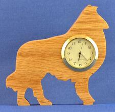 Collie Mini Clock - Hand cut w/ choice of insert