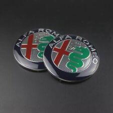 COPPIA ALFA ROMEO 74mm Logo Stemma Emblema MiTo 147 156 159 166 Giulietta Spider