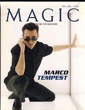 Marco Tempest Magic the Magazine for Magicians Apr 2004 Bigfoot, Burger, Hobson