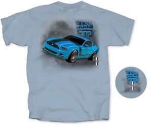 Mustang BOSS 302 - Grabber Blue T-Shirt - Exclusive Item with FREE USA SHIPPING!