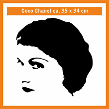 COCO CHANEL Wandtatoo, ca. 35 x 34 cm, Folienschnitt mit Montagefolie