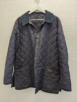 Mens Barbour navy blue jacket size L