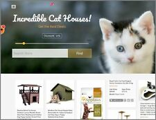 CAT HOUSES Website Earn $61.78 A SALE|FREE Domain|FREE Hosting|FREE Traffic