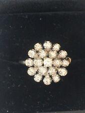 Fantastic Vintage 14k White Gold Diamond Cluster Ring/snowflak