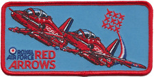 RAF Red Arrows Two Plane Embroidered Patch ** LAST FEW **