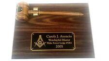 Personalized Masonic or organization Plaque & Gavel