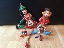 Vintage Clown Figurines Lot of 4