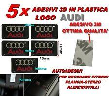 5 ADESIVI AUDI A1 A3 A4 A5 A6 A7 A8 Q5 Q3 LOGO STEMMA STICKER INTERNI EMBLEMA 3D