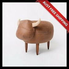 Moo Buffalo Ottoman_Aussie Station, Foot Stool, Foot Rest, Chair, Brown Colour