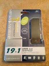 VANTEC COMPACT HI-SPEED USB 2.0 19-in-1 EXTERNAL CARD READER/WRITER UFT-CR925-BK