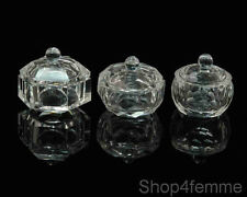 Acrylic Glass Dappen Dishes Set of 3