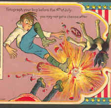 "COMIC 4TH JULY,""FOTOGRAPH YOUR BOY"" FIREWORKS POSTCARD"