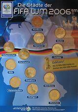 Blister Satz Set 12 Medaillen FIFA Fussball-WM 2006 BRD Städte Austragungsorte