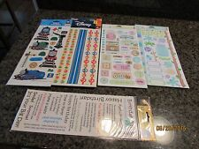 Scrapbooking Sticker Lot vtg 2003 Cat Bugs Birthday Kid Thomas The Train Disney