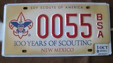 2010 New Mexico Boy Scouts of America license plate