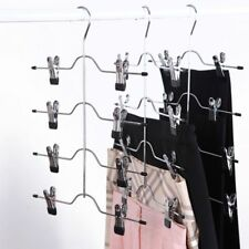 Pants Metal Clips Skirt Hangers Trouser Holder Save Space Clothes Rack Home