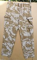 BRITISH ARMY ISSUE 1994 PATTERN DESERT CAMOUFLAGE COMBAT TROUSERS -SMALL SIZES