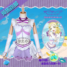 Love Live Sunshine Mari Ohara Aqours Cosplay Costume Aquarium Purple Dress Skirt