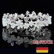 Strass Opal Hochzeit Diadem Krone Floret Fee Haarschmuck Tiara Braut Stirnband