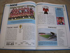FOOTBALL COUPURE LIVRE PHOTO MRBT40 20x10 D1 OGC NICE 1988/1989
