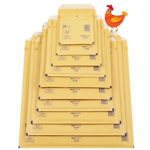 AROFOL GENUINE GOLD BUBBLE PADDED ENVELOPES MAILERS BAGS ALL SIZES / QTY'S